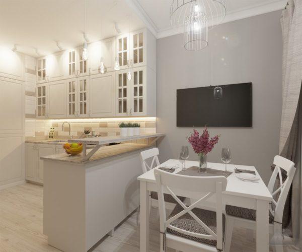 проект 2-3 комнатной квартиры современный стиль