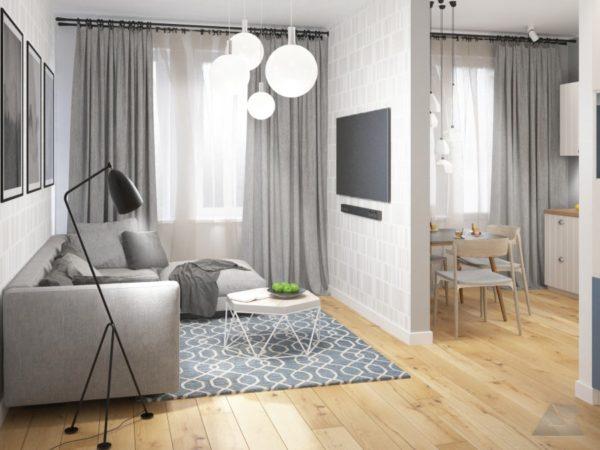 дизайн 2 3 комнатной квартиры скандинавия