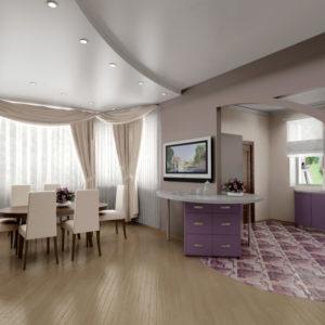 современный дизайн потолка гостиной