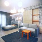 дизайн проект 5 комнатной квартиры