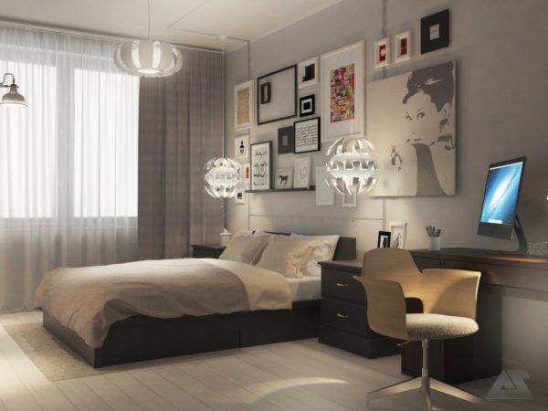 дизайн проект студии 1 комнатной квартиры европа