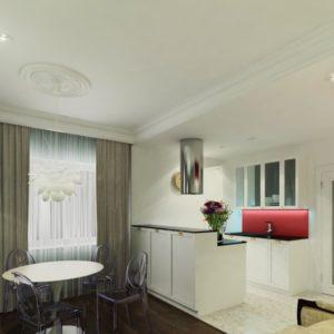 дизайн проект 3 комнатной квартиры современный петербург