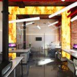 дизайн проект офиса веб студии в стиле лофт