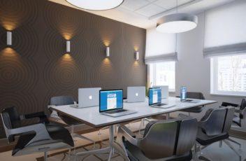 дизайн маленького офиса люкс