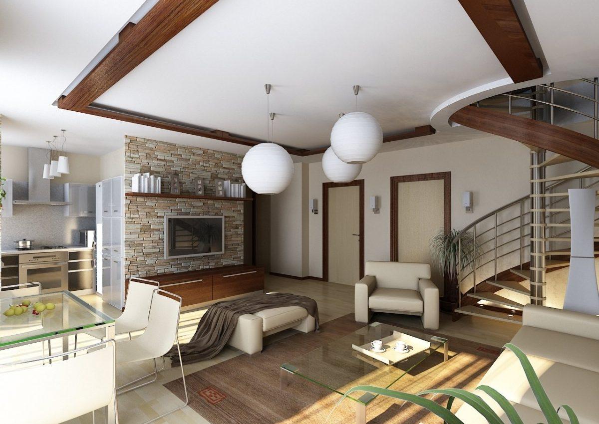 дизайнерский ремонт загородного дома